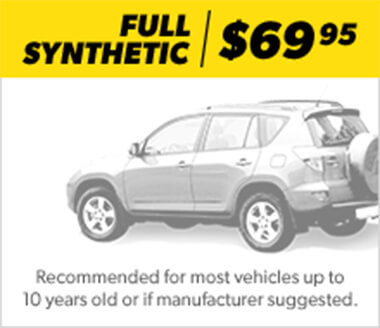Oil Change Package Full Synthetic